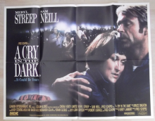 Cry in the Dark, Original UK Quad Poster, Meryl Streep, Sam Neill, '88